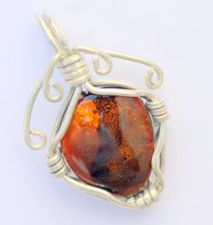 Fine Fire agate pendantTotal weight