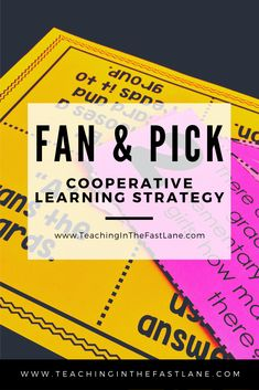 Fan and Pick: A Cooperative Learning Strategy Classroom Routines And Procedures, Classroom Management Strategies, Elementary School Counseling, Elementary Math, Upper Elementary, Math Lesson Plans, Math Lessons, Leadership Activities, Group Activities