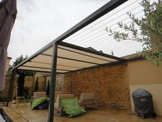 Toile pour pergola on pinterest pergolas abri de terrasse and vasque - Pergola aluminium 4x3 ...