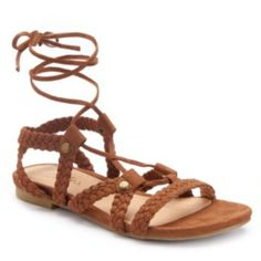 Candie's+Women's+Strappy+Lace-Up+Sandals