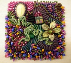 More bead embroidery. Site is rife with ads, though.