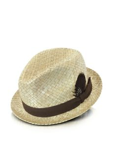 c1dd68e481a Paul Smith Straw Feather Trilby Hat