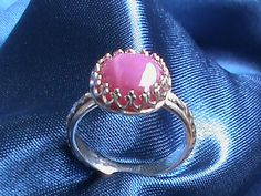 Star Ruby in a sterling silver Victorian setting by jewellsbyleah Heart Ring, Gemstone Rings, Victorian, Sterling Silver, Stars, Etsy, Jewelry, Jewlery, Jewerly