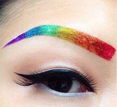 Rainbow Eyebrows Are Helping People Embrace Their Inner Unicorn. - http://www.lifebuzz.com/rainbow-eyebrows/