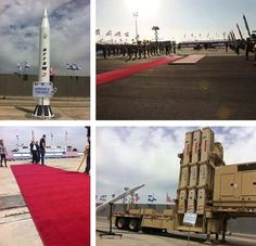 The Ministry of Defense has completed its preparations at Ben Gurion Airport for President Obama's arrival in Israel on Wednesday and for his leaving ceremony on Friday.  Stages have been built, the carpets have been rolled out, and a compound has been specifically set up displaying the different components of the multi-layer missile defense system: 'Iron Dome', 'David's Sling', 'Arrow 2' and 'Arrow 3'.