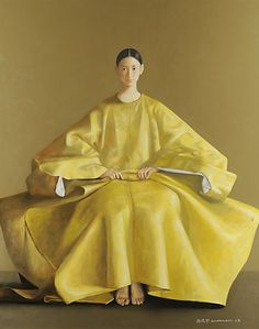 "Lu Jian Jun ""In Lu Jian Jun, China has produced an artist of imagination, a man with a distinctive and unquestionable mast. Yellow Art, Mellow Yellow, Yellow Painting, Bright Yellow, Chinese Contemporary Art, Modern Art, Photografy Art, Art Asiatique, Illustration Art"