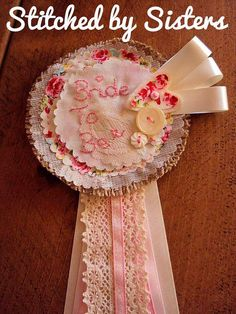 Handmade Rosette Badge Bride To Be gift Hen by StitchedbySisters01