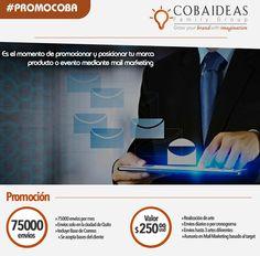 #Repost @cobaideas with @repostapp ・・・ Posiciona tú »#Evento »#Marca »#Productos Mediante#MailMarketing. Por el mes de Septiembre obtén 75000 envíos de correos por tan solo >>> $250 <<< Para más información  www.coba-ideas.com Info@coba-ideas.com 098 706 8109 #market #btl #atl #social #communitymanagement #mailing #marketing #digital #diseño #Quito #Ecuador #Ecommerce