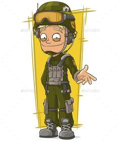 Buy Cartoon Blond Soldier in Green Uniform by GB_Art on GraphicRiver. A vector illustration of cartoon blond soldier in green uniform People Icon, Army Men, 2d Character, People Illustration, Cartoon Characters, Fictional Characters, Artist Trading Cards, Art Drawings, Car Racer