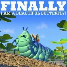"Finally, I'm a beautiful butterfly!"" -Heimlich, A Bug's Life Yoga Inspiration, Tattoo Inspiration, Pregnancy Jokes, Pregnancy Problems, Early Pregnancy, Pregnancy Style, Pregnancy Tips, Pregnancy Insomnia, Winter Pregnancy"