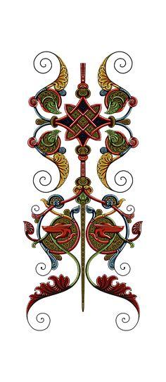 D Flowers, Bunch Of Flowers, Vintage Flowers, Flower Art Images, Boarder Designs, Vintage Borders, Baroque Design, Thing 1, Art Deco Fashion