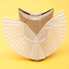 This statuesque owl was hatched from humble origins -- namely, a cardboard tube and paper cupcake liners -- so you don't need to be talon-ted to make one!