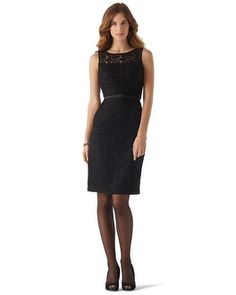 White House | Black Market Guipure Lace Dress #whbm So pretty and classy! loved it in red too.