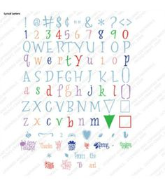 Cricut Font Cartridge Lyrical Letters at Joann.com