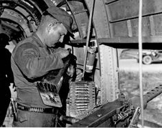 ".50 caliber machine gun on a Chinook, 1966  Better known as ""Puff the Magic Dragon""  WG.."