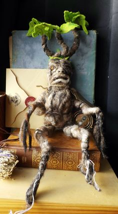 Mandrake,harry potter inspired mandrake, needle felted Halloween ,harry potter sculpture.made to order by WaggledanceArt on Etsy https://www.etsy.com/listing/476621663/mandrakeharry-potter-inspired-mandrake