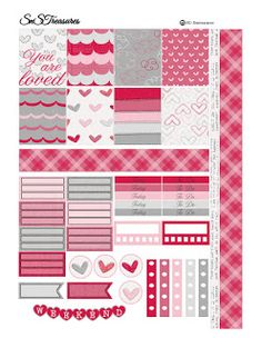 Free Printable Valentines Day Planner Stickers ~ snstreasures