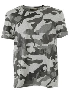 Valentino Camouflage T-Shirt, Grey