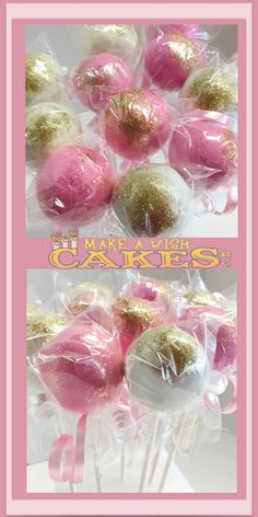 For This Baby Shower, it's Cake Pops 😋 Pink Gold Cake, Pink And Gold, Make A Wish, How To Make, Cakepops, Chocolate Ganache, Cake Cookies, Baby Shower, Babyshower