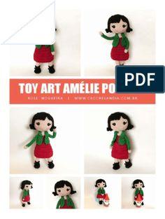 Amigurumi Magazine Kostenlose PDF-Rezepte in Portugiesisch Toy Art, Amigurumi For Beginners, Monkey Pattern, Amigurumi Tutorial, Amigurumi Toys, Crochet Squares, Giraffe, Free Pattern, Bunny