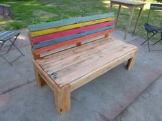 welcome some storage furniture then you can have this DIY pallet outdoor bench with storage which would not only let you have a comfortable seat would Pallet Furniture Designs, Wooden Pallet Furniture, Pallet Designs, Wooden Pallets, Outdoor Furniture, Furniture Projects, Pallet Garden Benches, Garden Bench Plans, Pallet Chairs