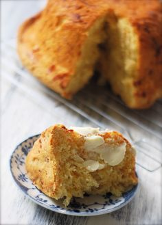 Cheddar Bread ~ an easy, yeasted, no-knead, batter bread...wonderful with a big bowl of soup!