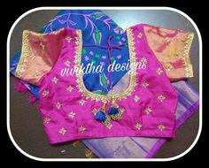 Simple Blouse Designs, Ikkat Saree, Chiffon Saree, Work Blouse, Sarees, Blouses, Models, Bridal, Elegant