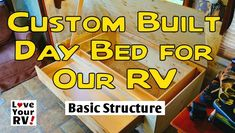 Summer Interior Renovation Project Part Two – RV Daybed Build - http://www.loveyourrv.com/summer-interior-renovation-project-part-two-rv-daybed-build/