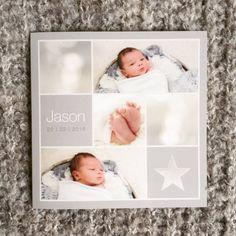 www.hetuilennestje.nl geboortekaartje geboortekaarten birth announcement jongen baby ster foto's naturel natural feet voetjes grijs bruin