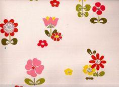 Vintage Vintage 1970s Wallpaper - Scandinavian Flowers - 1 metre   eBay