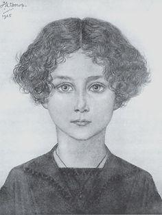 Mies Schellens - potlood op papier - Jan Toorop 1925