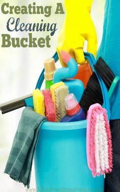 You want to clean your home efficiently and the best way to accomplish this is to create a cleaning bucket. Learn what to include in your cleaning bucket.