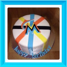 Would love to do this for Es 17th Miami Marlins Birthday cake
