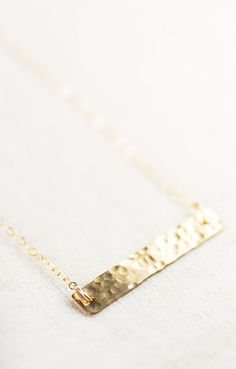 Kaila necklace - gold bar necklace, single strand necklace, hammered gold filled bar necklace, minimal necklace, geometric, maui, hawaii https://www.etsy.com/listing/178205159