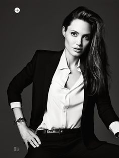 untamed heart: angelina jolie by hedi slimane for us elle june 2014