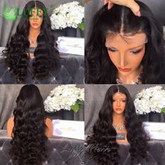 180% Body Wave Full Lace Wigs Virgin Human Hair Lace Front Wigs With Baby Hair