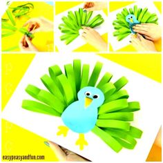 animal crafts for kids We have yet another super simple paper craft idea to share with you, this time we are showing you how to make a paper peacock craft. Peacocks trully are gor Kids Crafts, Easy Paper Crafts, Paper Plate Crafts, Crafts For Kids To Make, Summer Crafts, Cute Crafts, Preschool Crafts, Easter Crafts, Art For Kids