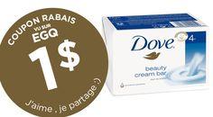 COUPON 1$ SUR PAIN DE SAVON DOVE