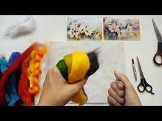 Как рисовать картины шерстью - основы рисования, инструменты, материалы - YouTube