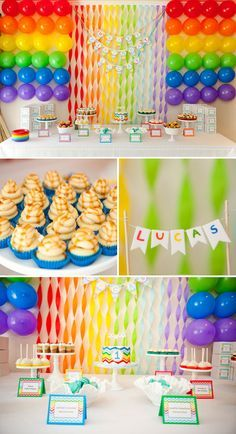 Festa Infantil Colorida E Sem Tema 5th BirthdayRainbow Birthday PartiesFirst