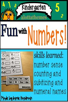 This is a FUN package full of Ready to print activities. What a great way to undersgtand number concepts. My kinders loved this activity. Skills learned from this package: Number sense counting subitizing numeral names groups ideas Subtraction Kindergarten, Kindergarten Themes, Kindergarten Learning, Number Activities, Alphabet Activities, Motor Activities, Subitizing, Learn To Count, Learning Numbers