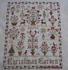 "blackbird designs cross stitch | Blackbird Designs ""Christmas Garden"""