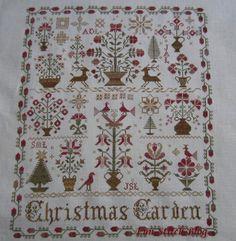 "blackbird designs cross stitch | Blackbird Designs ""Christmas Garden"""