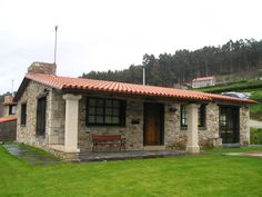 Village House Design, Village Houses, Tiny House Cabin, My House, Style At Home, Mexico House, Rustic Cottage, Stone Houses, Modern House Design
