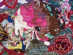 Cat Nap: Sweet Dreams, detail, Art Textile