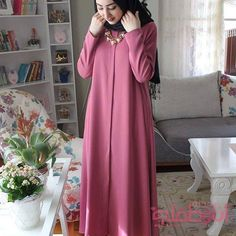 Modest Dresses, Dresses With Sleeves, Abayas, Baby Food Recipes, Fasion, Sew, Foods, Long Sleeve, Recipes For Baby Food