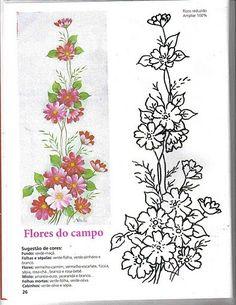 Essa dica é para quem gosta de pintar flores, pois nesse link vocês irão encontrár vários riscos de flores!