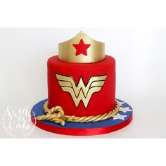 Birthday Ideas For Women Theme Wonder Woman Birthday Cake, 50th Birthday Cake For Women, Wonder Woman Cake, Happy Birthday Art, Wonder Woman Party, Fall Birthday Parties, 4th Birthday Cakes, Birthday Woman, 28th Birthday