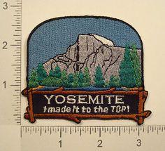 YOSEMITE NATIONAL PARK Mountain Climbing HALF DOME California Souvenir PATCH