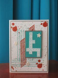 Stampinggranny - Ankie: Verjaardagspuzzel voor mannen